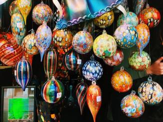 Hand-blown glass baubles